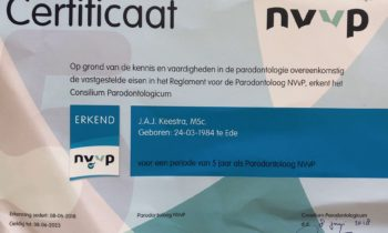 Erkenning Parodontoloog NVvP